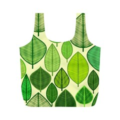 Leaves pattern design Full Print Recycle Bags (M)