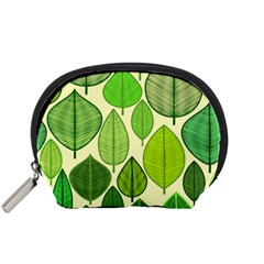 Leaves pattern design Accessory Pouches (Small)