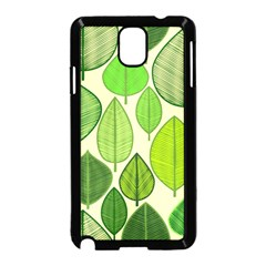 Leaves pattern design Samsung Galaxy Note 3 Neo Hardshell Case (Black)
