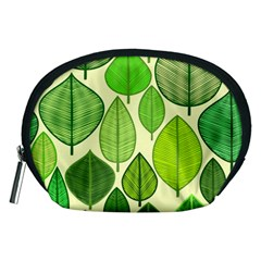 Leaves pattern design Accessory Pouches (Medium)