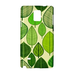 Leaves pattern design Samsung Galaxy Note 4 Hardshell Case