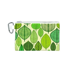 Leaves pattern design Canvas Cosmetic Bag (S)
