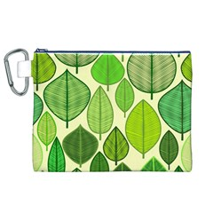 Leaves pattern design Canvas Cosmetic Bag (XL)