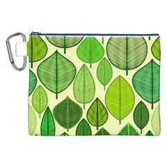 Leaves pattern design Canvas Cosmetic Bag (XXL)