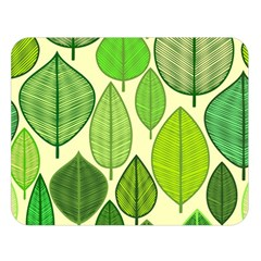 Leaves pattern design Double Sided Flano Blanket (Large)