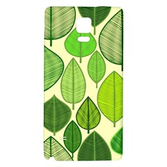 Leaves pattern design Galaxy Note 4 Back Case