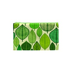 Leaves pattern design Cosmetic Bag (XS)