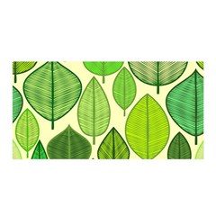 Leaves pattern design Satin Wrap