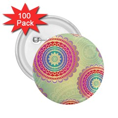 Abstract Geometric Wheels Pattern 2.25  Buttons (100 pack)
