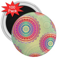 Abstract Geometric Wheels Pattern 3  Magnets (100 pack)