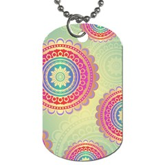 Abstract Geometric Wheels Pattern Dog Tag (Two Sides)