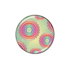 Abstract Geometric Wheels Pattern Hat Clip Ball Marker (4 pack)