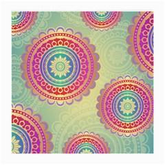Abstract Geometric Wheels Pattern Medium Glasses Cloth (2-Side)