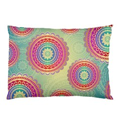 Abstract Geometric Wheels Pattern Pillow Case