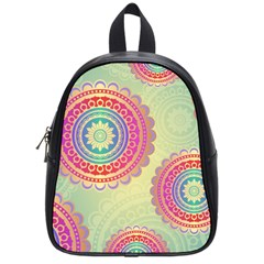 Abstract Geometric Wheels Pattern School Bags (Small)