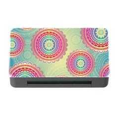 Abstract Geometric Wheels Pattern Memory Card Reader with CF