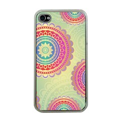 Abstract Geometric Wheels Pattern Apple iPhone 4 Case (Clear)