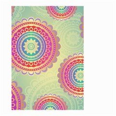 Abstract Geometric Wheels Pattern Small Garden Flag (Two Sides)