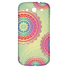 Abstract Geometric Wheels Pattern Samsung Galaxy S3 S III Classic Hardshell Back Case
