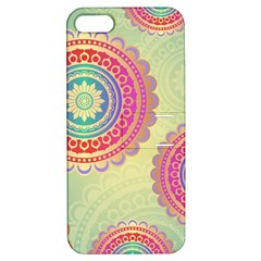 Abstract Geometric Wheels Pattern Apple iPhone 5 Hardshell Case with Stand