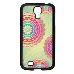 Abstract Geometric Wheels Pattern Samsung Galaxy S4 I9500/ I9505 Case (Black)