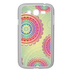 Abstract Geometric Wheels Pattern Samsung Galaxy Grand DUOS I9082 Case (White)
