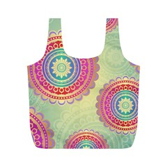Abstract Geometric Wheels Pattern Full Print Recycle Bags (M)