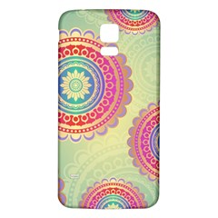 Abstract Geometric Wheels Pattern Samsung Galaxy S5 Back Case (White)