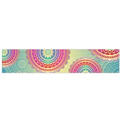 Abstract Geometric Wheels Pattern Flano Scarf (Small)
