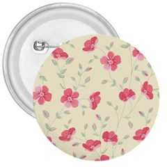 Seamless Flower Pattern 3  Buttons