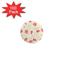 Seamless Flower Pattern 1  Mini Magnets (100 pack)