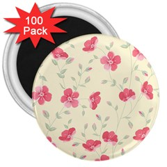 Seamless Flower Pattern 3  Magnets (100 pack)