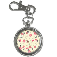 Seamless Flower Pattern Key Chain Watches