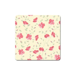 Seamless Flower Pattern Square Magnet