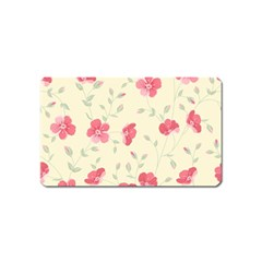 Seamless Flower Pattern Magnet (Name Card)