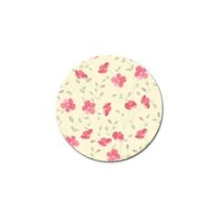 Seamless Flower Pattern Golf Ball Marker