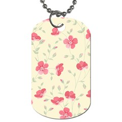 Seamless Flower Pattern Dog Tag (Two Sides)