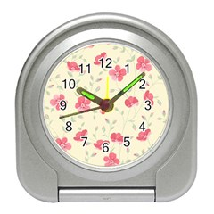 Seamless Flower Pattern Travel Alarm Clocks