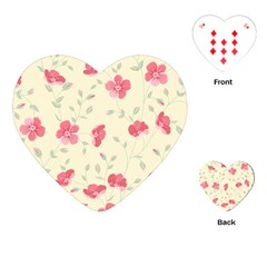 Seamless Flower Pattern Playing Cards (Heart)
