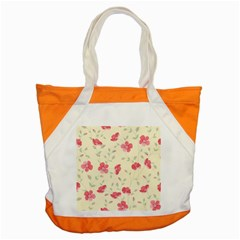 Seamless Flower Pattern Accent Tote Bag
