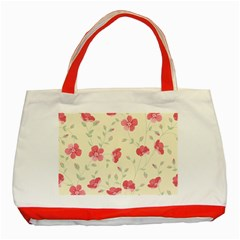 Seamless Flower Pattern Classic Tote Bag (Red)