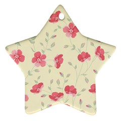 Seamless Flower Pattern Star Ornament (Two Sides)