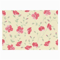 Seamless Flower Pattern Large Glasses Cloth (2-Side)