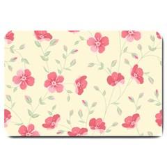 Seamless Flower Pattern Large Doormat