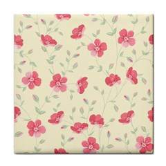 Seamless Flower Pattern Face Towel