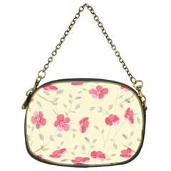 Seamless Flower Pattern Chain Purses (One Side)