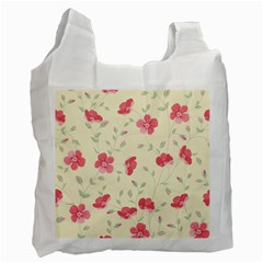 Seamless Flower Pattern Recycle Bag (One Side)