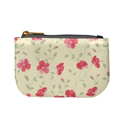 Seamless Flower Pattern Mini Coin Purses
