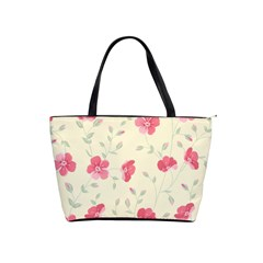 Seamless Flower Pattern Shoulder Handbags