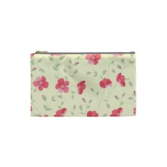 Seamless Flower Pattern Cosmetic Bag (Small)